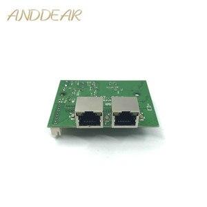 Image 1 - Mini interruptor de red ethernet de 2 puertos de 10/100/1000 mbps rápido directo de fábrica pcb 2 rj45 1 * 8pin cabeza puerto