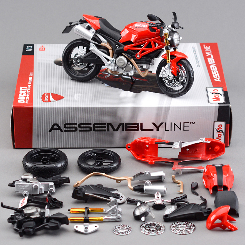 dmh 696 motorcycle model building kits 112 assembly toy kids gift mini moto diy diecast models toy for gift collection