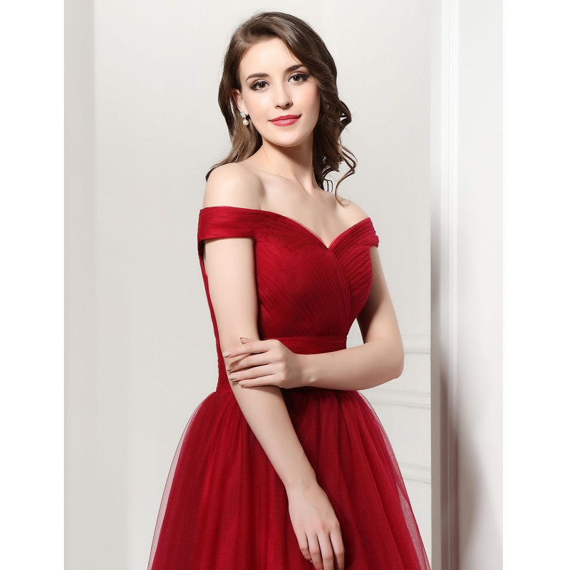 Long Gown Party Dress Cheap Burgundy Formal Dresses Elegant Lace Up