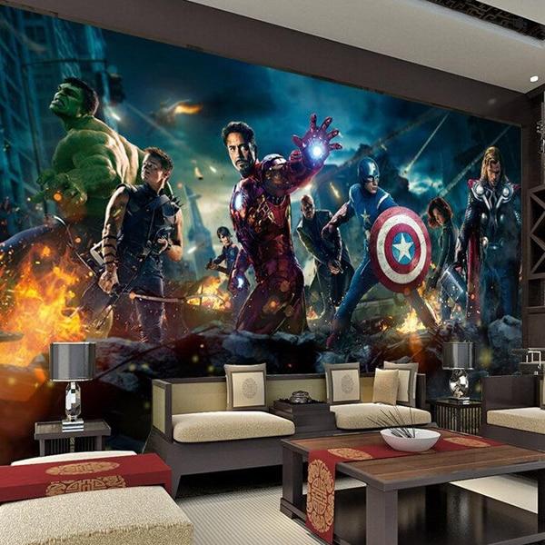 3 d mural tapete the avengers hulk captain americ thor for Avengers mural poster