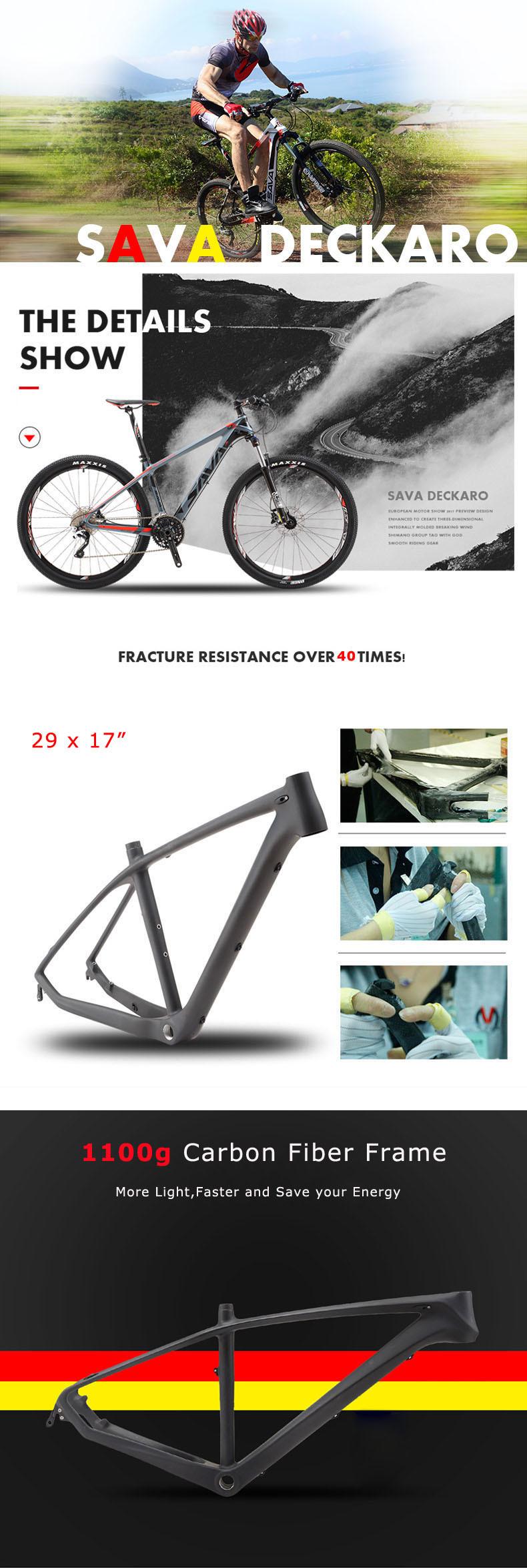 SAVA DECK300 30 Speed Carbon Fibre MTB Mountain Bike 29inch Bicycle ...