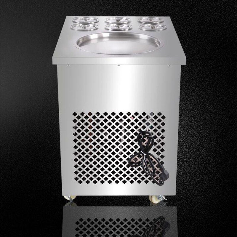 Täisroostevabast terasest ühe panniga praetud jäätise rullimasina - Tööpingid ja tarvikud - Foto 5