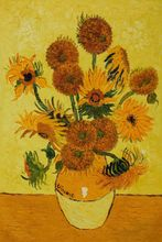 Vase with Fifteen Sunflowers by Vincent Van Gogh Handpainted
