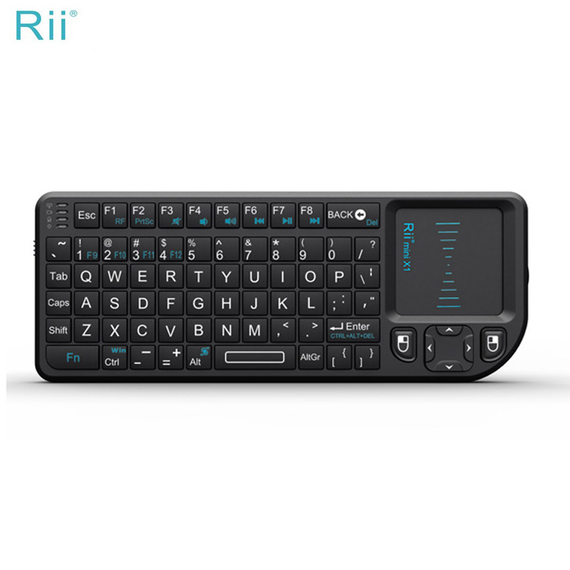 Original Rii X1 Wireless Air Mouse Keyboard 2.4G with Touchpad Remote Control Gaming keyboard for Xiaomi Projector Accessories