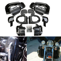 New Painted Gloss Black Motorcycle Lower Vented Leg Fairings Glove Box For Harley Road King Tour