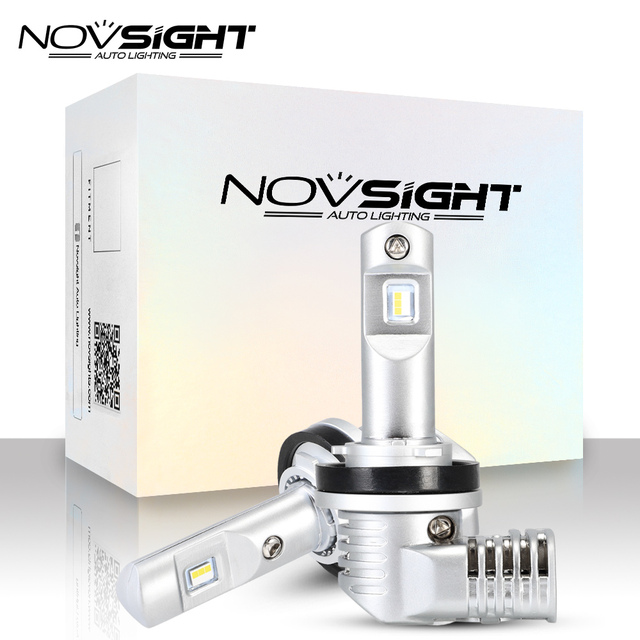 1:1 DESIGN NOVSIGHT H4 H7 Led Car Headlight H11 H16JP 9005 9006 9012 D1S P13 PSX24W PSX26W 50W 10000LM 6500K Fog Light