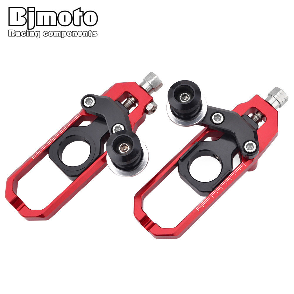 BJMOTO For Honda CBR600RR F5 07-15 Motorcycle CNC Tensioners Catena Rear Axle Spindle Chain Adjuster with Spools Motocross Parts цена