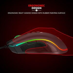 Image 5 - Redragon M711 FPS COBRA Gaming Mouse Pixart 3360 optyczny czujnik do gier 16.8 milionów Chroma kolor RGB podświetlany przewodowy 24000 DPI FPS
