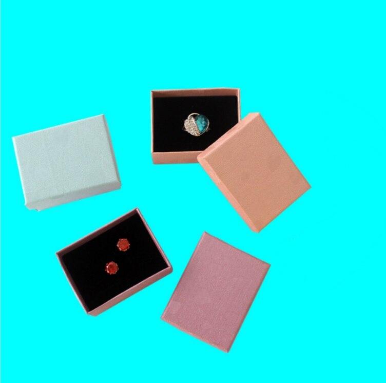 Мода красочные 1 шт. Новый 6.5*5 см Jewery Организатор Box Кольца хранения милый поле Малый Подарочная коробка для кольца Серьги 4 цвета