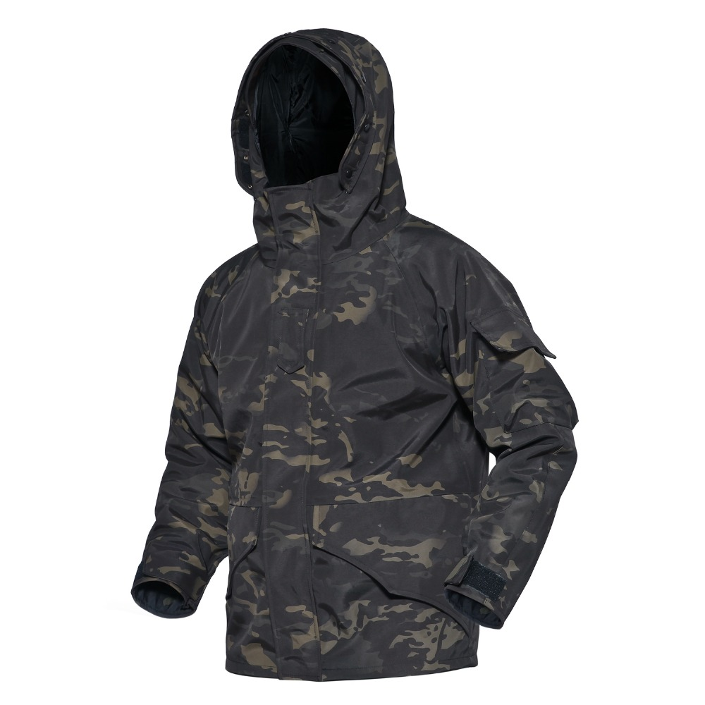 Tactical G8 Soft Shell Hunting Jacket With Linning Men Waterproof Windbreaker Outdoor Camouflage Hooded Pressure Glue Male Coat lurker shark skin soft shell v4 military tactical jacket men waterproof windproof warm coat camouflage hooded camo army clothing