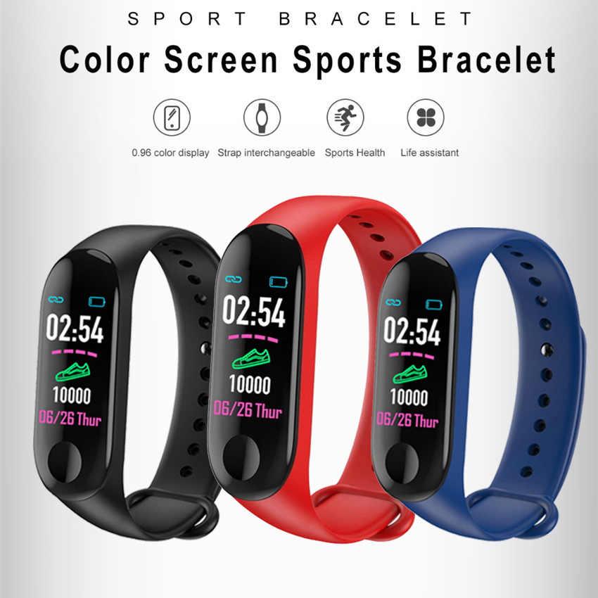 Günstige Smart Band Uhr Schritt HR Fitness Tracker Armband Smartband Für IOS/Xiao mi/Honor VS mi Band 3/4 nicht Xio mi