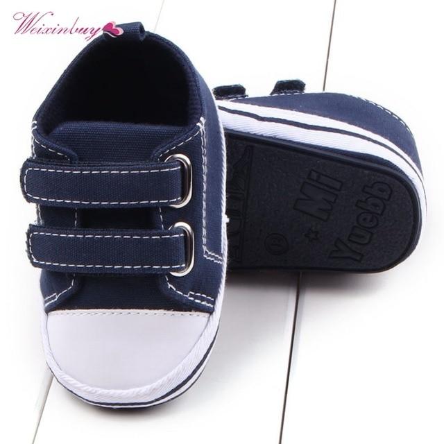WEIXINBUY Canvas Baby Shoes Newborn Boys Girls First Walkers Infant Toddler Soft Bottom Anti-slip Prewalker Sneakers 0-12M 1