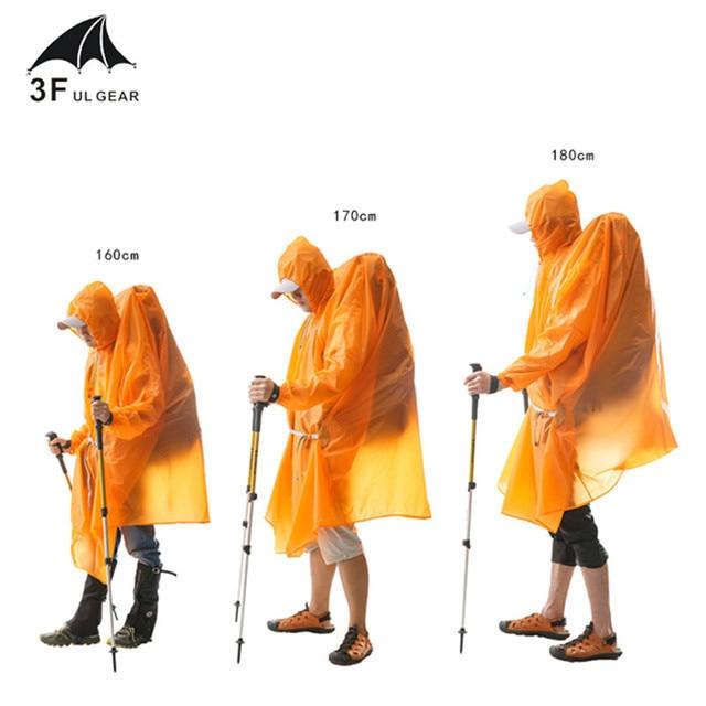3F UL Poncho Ultralight  Raincoat   15D Silicone 210T 3