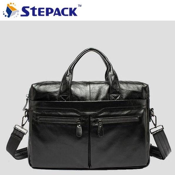 ФОТО Fashion Genuine Leather Bag Crocodile Leather Handbag High Grade Cowhide Leather Zipper Laptop Bag Busines Crossbody Bag WMB0146
