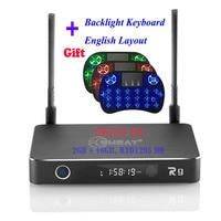 Eweat R9 2G/16G Android 6.0 TV BOX 3D 4K Realtek RTD 1295 Cortex A53 Dual WiFi 3.5 inch SATA HDD Media Player+ Wireless Keyboard
