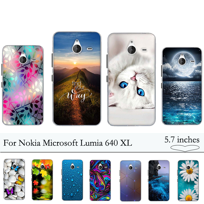 Soft Silicone TPU Case for Nokia Microsoft Lumia 640 XL Case Luxury Cover for Nokia Lumia 640XL 640 XL Case Cover Fundas Capas image