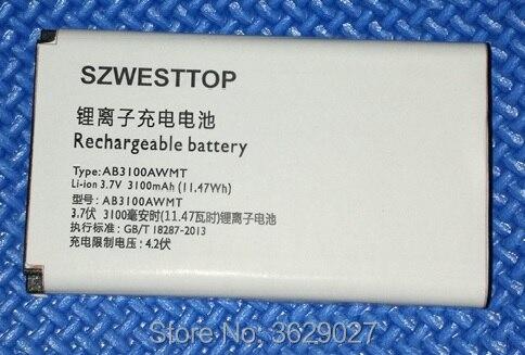 SZWESTTOP original AB3100AWMT battery For philips E560 E180 E181 cellphone AB3100AWMT for XENIUM CTE560 CTE181 smart Mobile