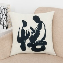 Chinese style Pillow cover truth of Buddhism custom home room car soft Creative Home Decorative throw Pillowcase(China)