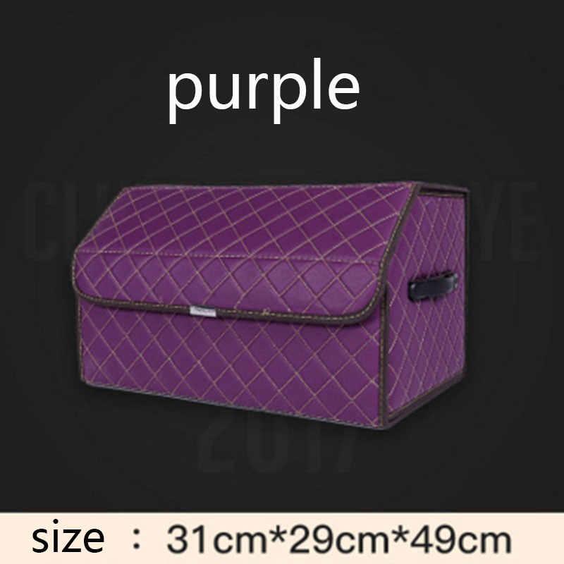 Car Trunk Organizer Storage Bag Plaid Auto Collapsible Box for mazda cx-3 cx-9 cx9 demio cargo familia premacy mg6 mg3 MG7 MG5