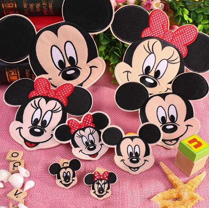 PGY Hot Sale Cartoon Patches Mickey Mouse Movie Stars Patch Iron On Patches For Clothing Child clothes Diy Ironing Stickers H