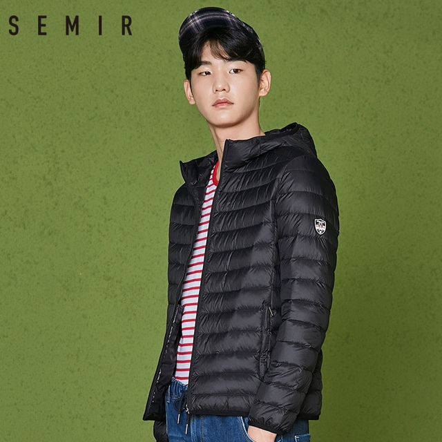SEMIR 2018 Men Lightweight Down Jacket Winter Men Short Thin Windproof Warm Jacket Casual Fashion Male Soft Outwear Clothing