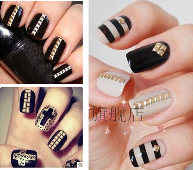 Aliexpress 200pcs Lot 3 0mm Gold Silver Studs Nail Art 3d Design Decoration Stickers Square Punk Rivet From Reliable Dimensions