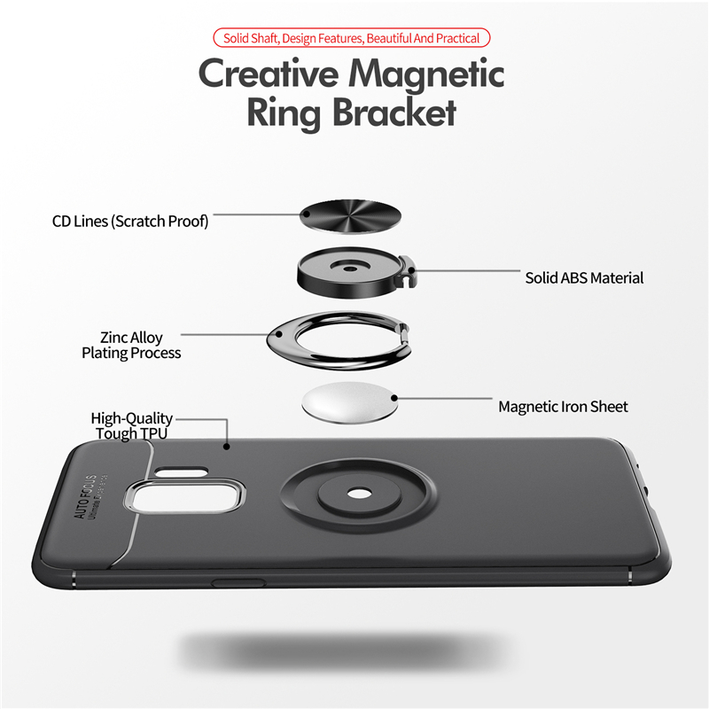 Car Holder Stand Magnetic Bracket Finger Ring TPU Case For SAMSUNG Galaxy S9 S8 Plus Note 8 J330 J530 J730 J4 J6 J8 A6 Plus 2018 (13)