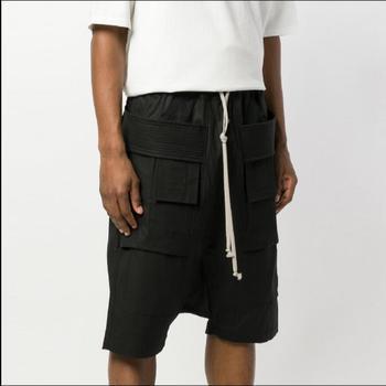 27-46 New 2020 Summer Casual Shorts Men Tooling Multi-pocket Shorts Loose Spliced Knee Length Cool Shorts Tide Singer Costumes