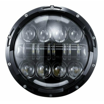 1PC Round LED Headlight 80W High and Low Beam with DRL Amber turn Signal for 2007-2013 Road King Classic