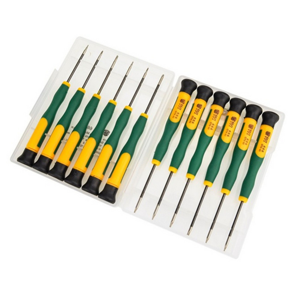 2016 Precision 12 in 1 Screwdriver Set BST-666 Mobile Phone PC Tablet Disassemble Repair Kit Phillips Torx Screw Drivers
