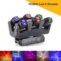 New Disco Lighting RGBW Led 6 Heads Beam Moving Head LED Stage Light For DJ Event