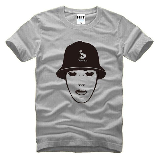Jabbawockeez Mask Hip hop Mens Men T Shirt T-shirt 2016 Novelty Short Sleeve O Neck Cotton Tshirt Tee Camisetas Masculina 8