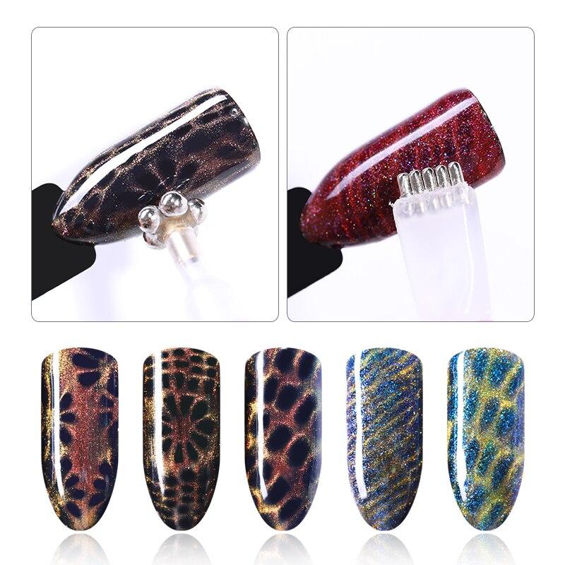 1 шт., мощная магнитная палочка для ногтей, магнит с эффектом 3D для кота, УФ-гель, искусственная волна, фоторучка, инструменты для ногтей