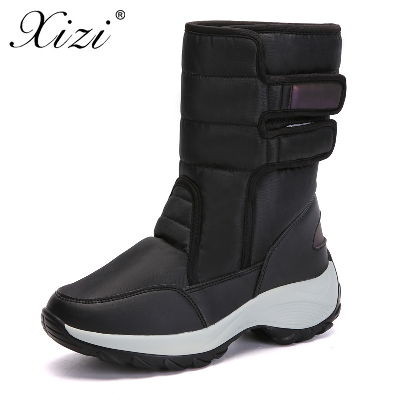 Hiver rose Bottes Neige Étanche Dame Xizi Plate Chaussures Cheville De Haute noir Femmes Mode Semelle forme Pour Qualité Chaud bleu Beige Faux Fourrure OXiZTuPk