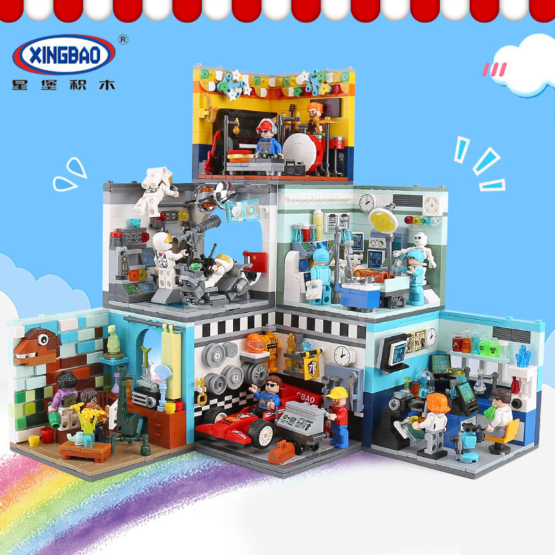 XINGBAO 01401 02 Genuine Building Blocks The Living House Set Building Bricks Educational Toys Compatible with