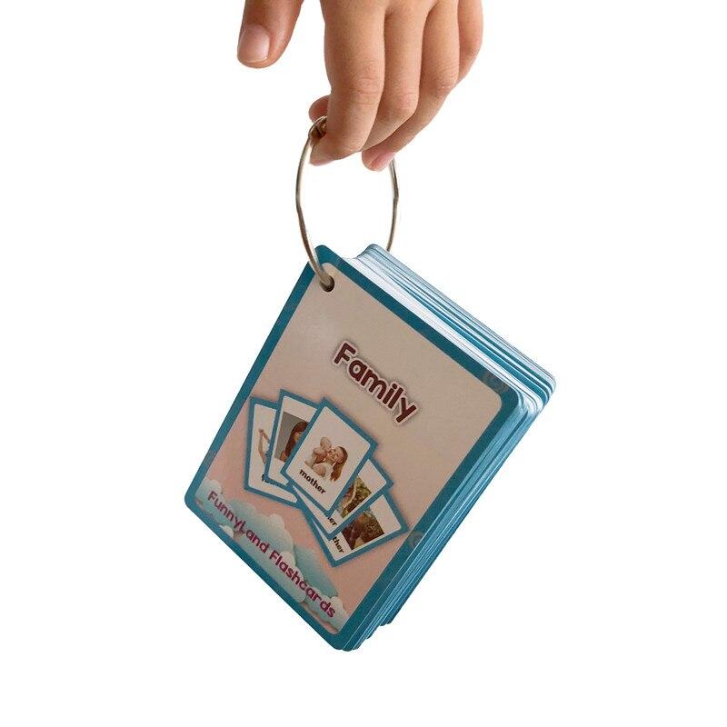26 catégories 760 Cartes Enfants apprendre L'anglais carte de mots Anglais carte papier jouets éducatifs pour enfants pour L'apprentissage Précoce des enfants jouet - 2