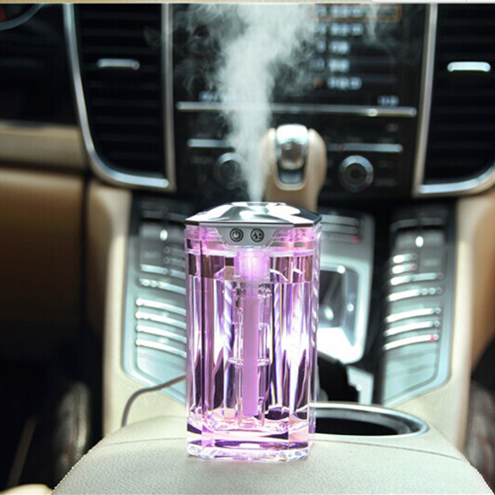 Mini Style Air Humidifier 120ML USB Crystal Bottle Ultrasonic Humidifier Aromatherapy Desktop Aroma Diffuser Car Air Purifier