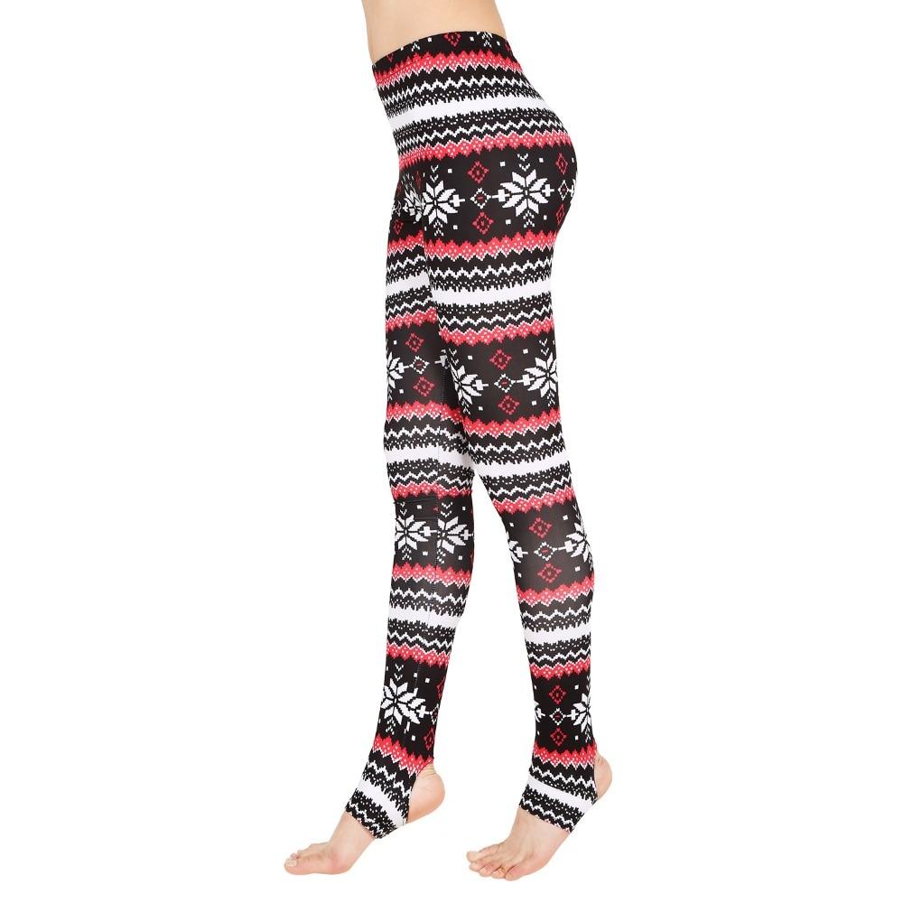 Snowflakes Aztec Tribal Soft Solid Leggings Pattern Womens Winter Pants