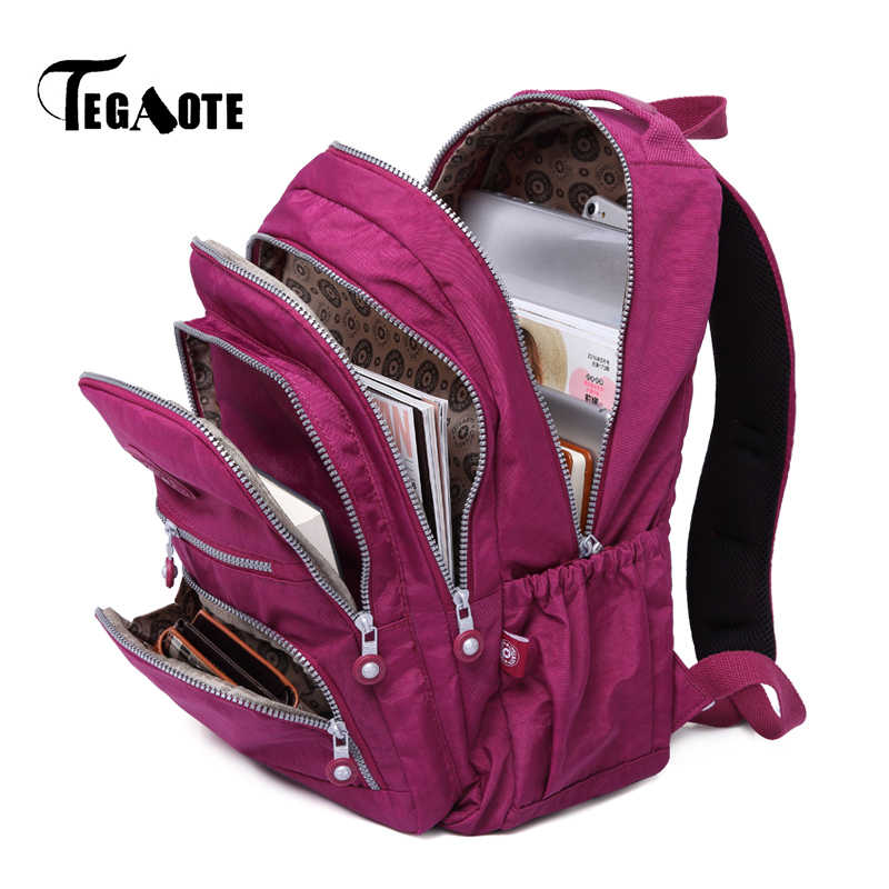 TEGAOTE Women Backpack School Bag for Teenage Girls Mochila Feminina Mujer Female Laptop Bagpack Travel Back Pack Ladies 2019