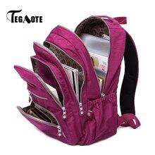 TEGAOTE נשים תרמיל בית ספר שקית ניילון נערות מזדמן מחשב נייד Bagpack נסיעות Bolsa המוצ ילה חזרה חבילה ילד 2020 מותג