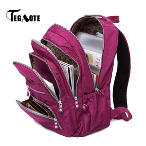 TEGAOTE Bolsa Mochila Feminina Women Backpack School Bag for Teenage Girls Nylon Casual Laptop Bagpack Travel Back Pack Kid 2020(China)
