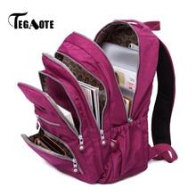 TEGAOTE Women Backpack School Bag for Teenage Girls Nylon Casual Laptop Bagpack Travel Bolsa Mochila Back Pack Kid 2020 Brand