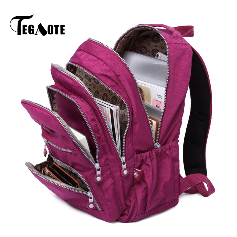TEGAOTE mochilas para mujeres Mochila escolar para adolescentes chicas Mujer Mochila femenina Mujer portátil Mochila bolsa de viaje de saco un Dos 2019