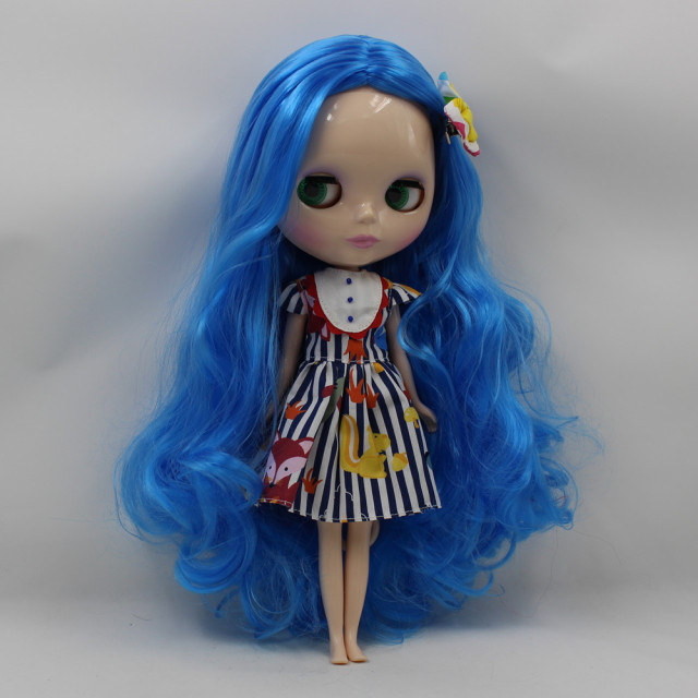 TBL Neo Blythe Doll Blue Hair Regular Body