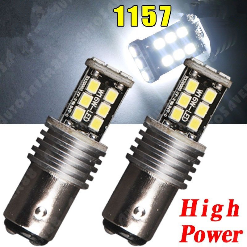CYAN SOIL BAY 2X Super White 1157 2835 15W 15 SMD BAY15D P21/5W High Power Tail Brake LED Light 12V Error Free Bulb Lamp