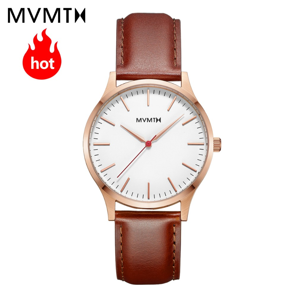 MVMT watch Official flagship store Genuine simple vintage male men's watch fashion trend waterproof quartz watch 40mmdw mvmt fashion trend casual vintage elegant lady gold bracelet double barbed cuff series