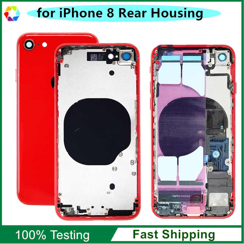 Replacement Parts for iPhone 8 Back Cover Rear Housing Frame Full Assembly with Original Parts Flex