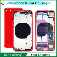 Replacement Parts for iPhone 8 Back Cover Rear Housing Frame Full Assembly with Original Parts Flex, Red