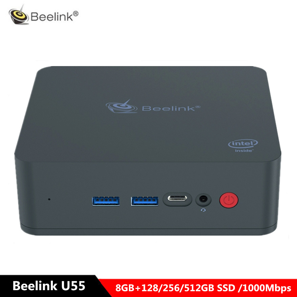Beelink U55 Mini PC Intel Core I3-5005U Intel HD Graphics 5500 Win10 home Set Top Box 8GB 128/512GB SSD 1000Mbps BT4.0 WiFi BoxBeelink U55 Mini PC Intel Core I3-5005U Intel HD Graphics 5500 Win10 home Set Top Box 8GB 128/512GB SSD 1000Mbps BT4.0 WiFi Box