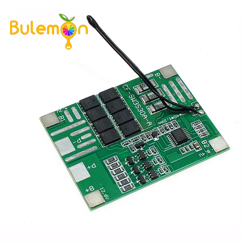 3S 12V 30A Lithium Battery Power Tools 18650 Protection Board LED Lights Solar Street Llight PCB BMS Board image